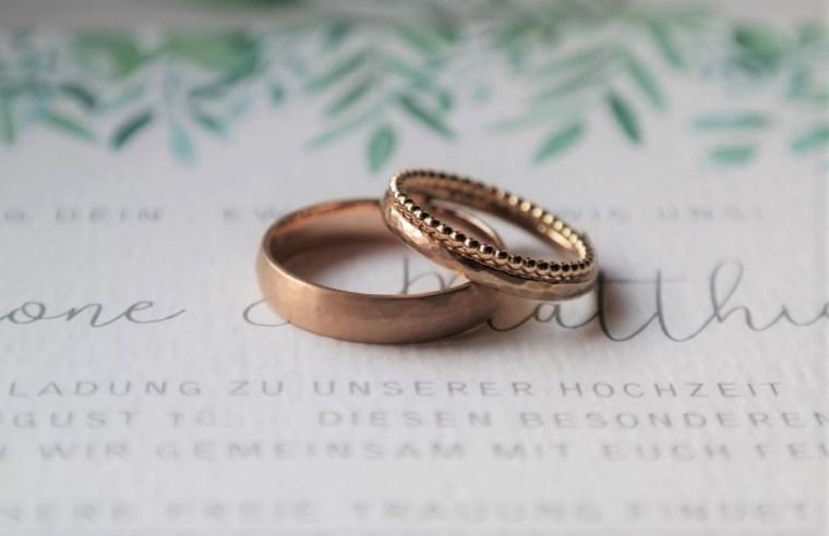 Nachhaltige Eheringe Rosegold zum Kombinieren