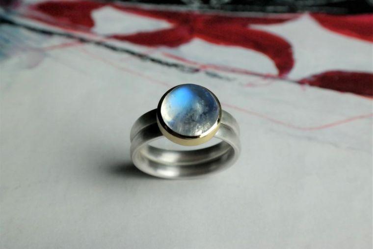 Ring-silber-gold-mondstein