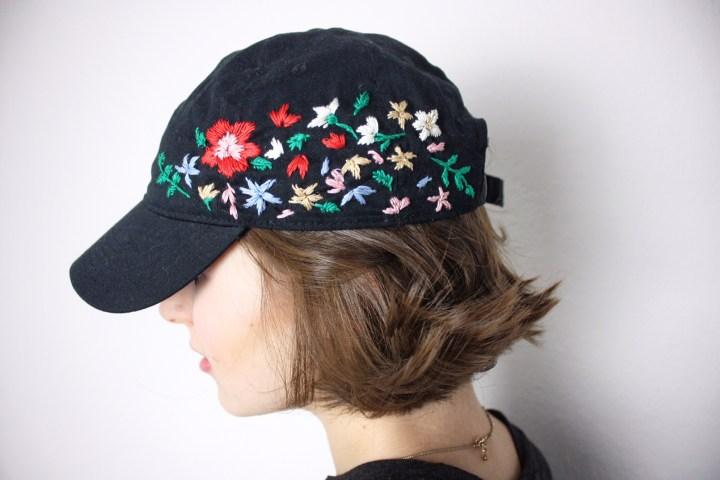 DIY-Tutorial: Blumen-besticktes Käppi