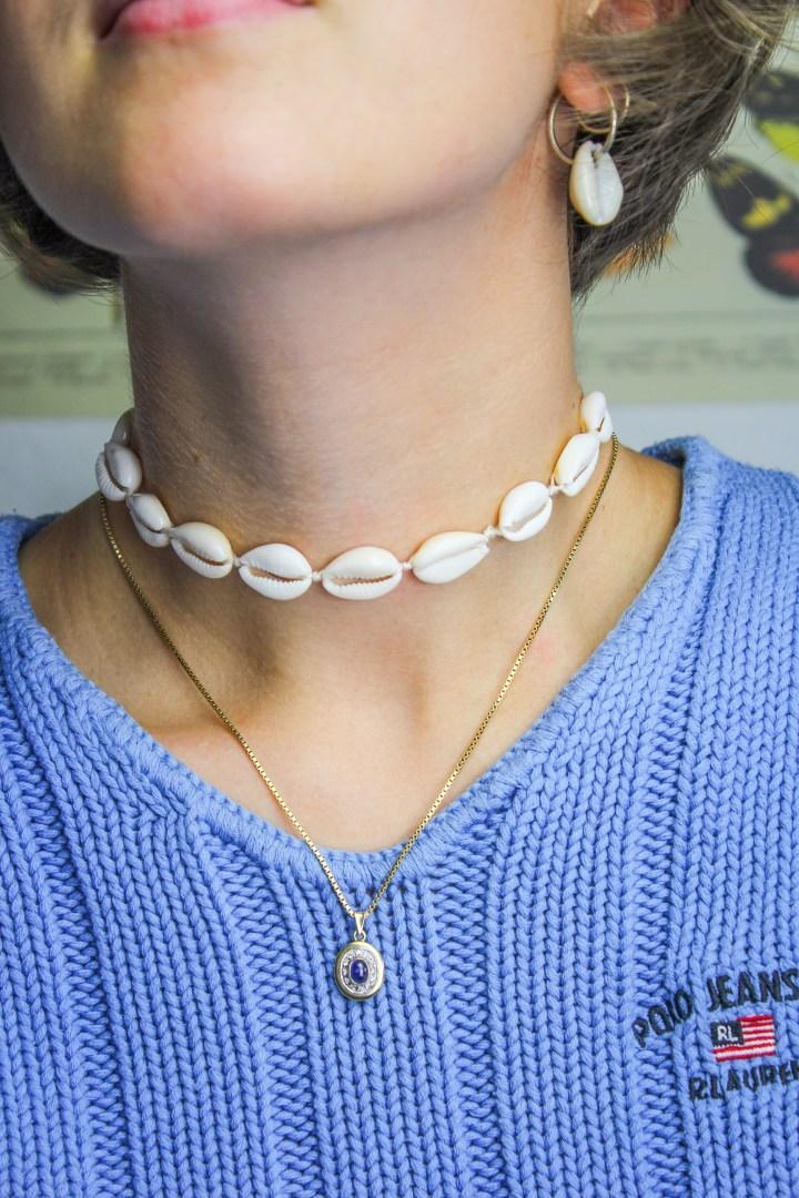 DIY Muschel-Choker Halskette