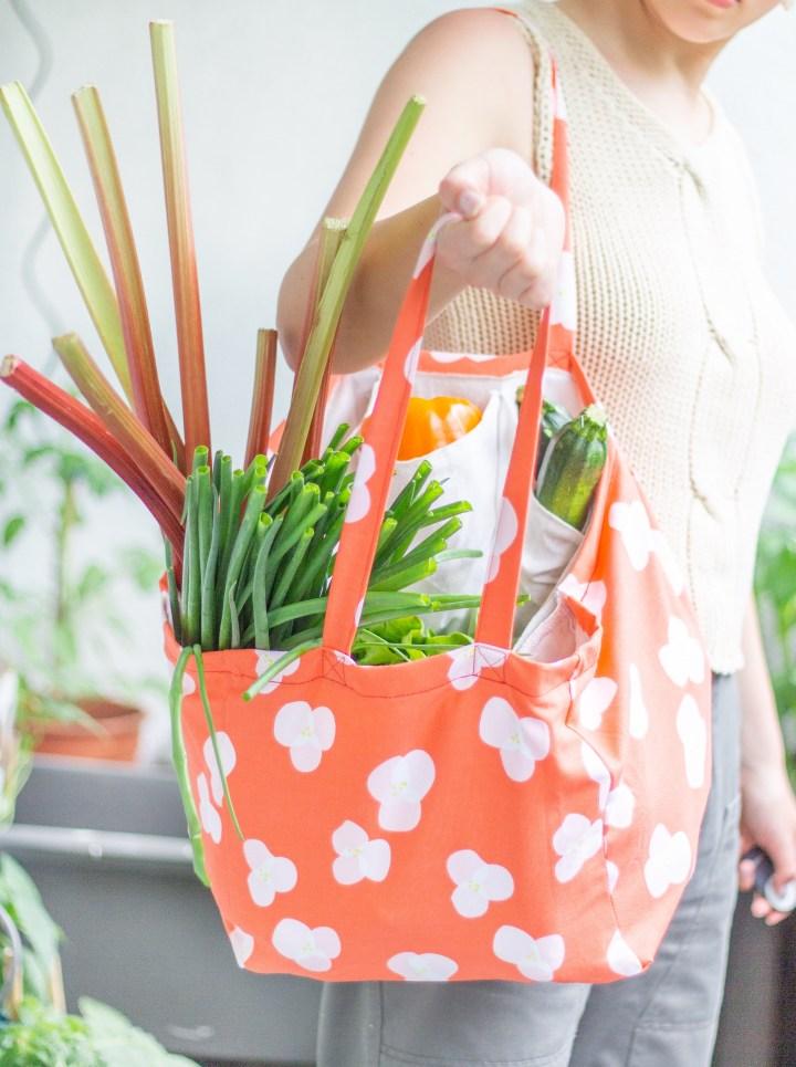 DIY Einkaufstasche mit Fächern nähen