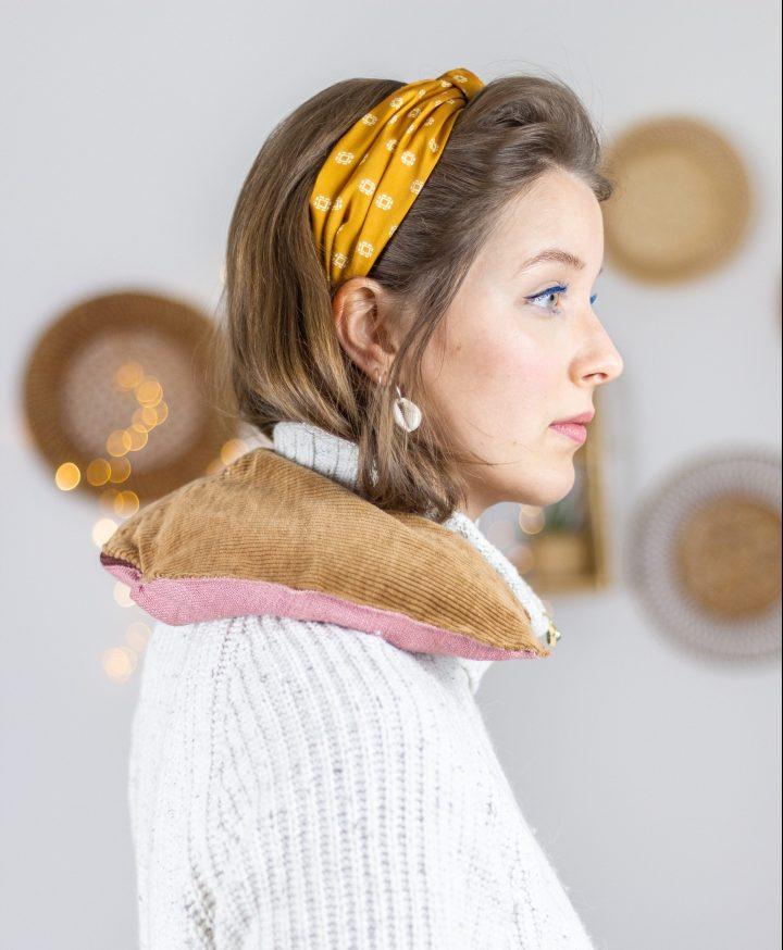 DIY Körnerkissen für den Nacken nähen (mit Schnittmuster)
