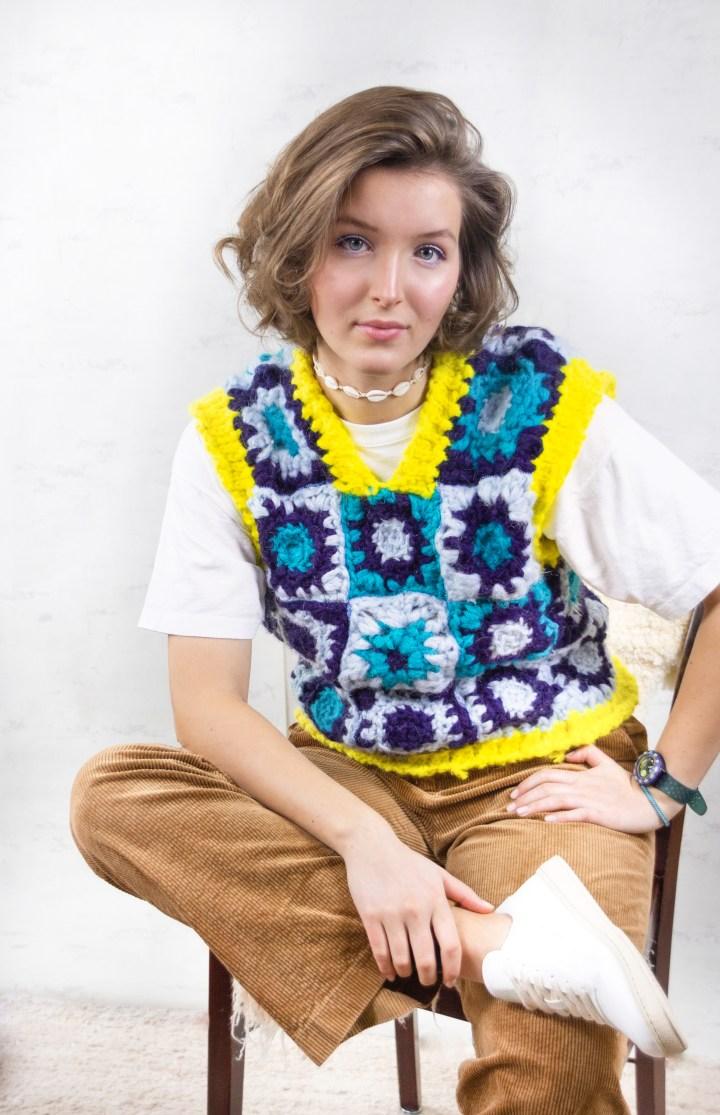 DIY Pullunder / Sweater Vest aus Granny Squares häkeln