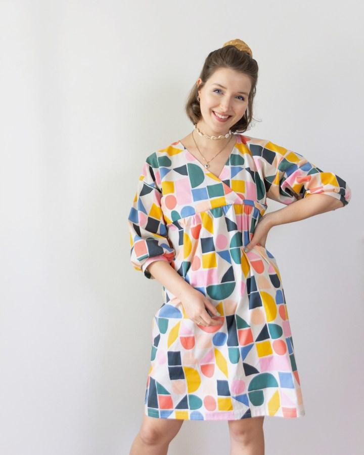 Einfaches Sommerkleid aus Baumwollbatist nähen