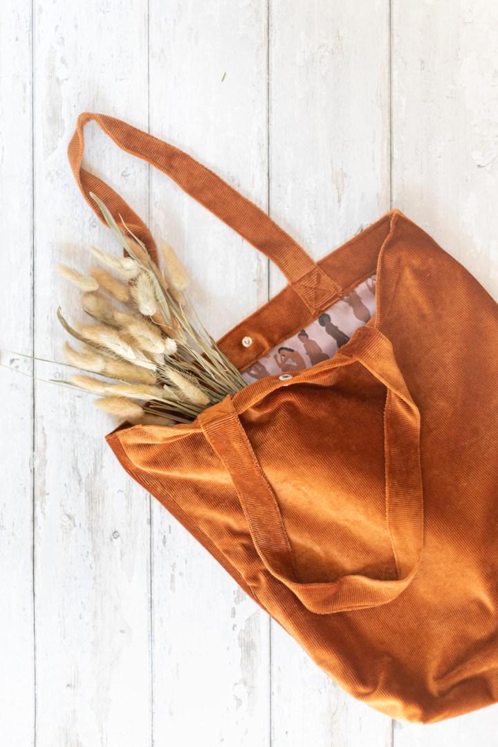 Tote Bag / Tasche aus Cord nähen