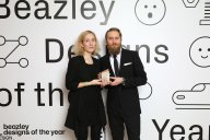 Winners of the Beazley Design of the Year, Marta Terne and Christian Gustafsson of Better Shelter pose for a photo at the Beazley Designs of the Year at the Design Museum on January 26, 2017 in London, United Kingdom. (Photo by Tim P. Whitby/Tim P. Whitby/Getty Images for the Design Museum)