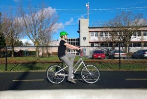 Steve D on a comfort bike