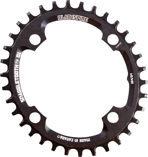 The Blackspire Snaggletooth narrow/wide oval chainring