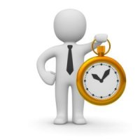 Productivity Hacks Businessman Timer