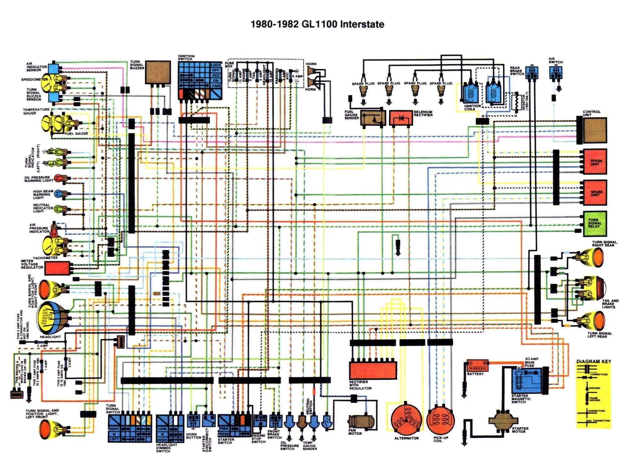 Honda Goldwing GL1100 Interstate 1980 to 1982 Color Schematic?resize=665%2C499 virago 750 wiring diagram virago automotive wiring diagram printable 1983 yamaha virago 920 wiring diagram at crackthecode.co