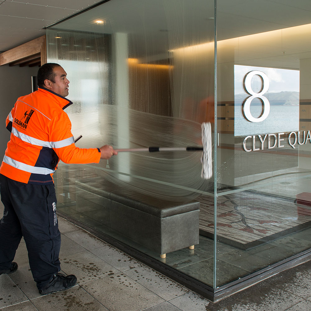 Commercial window cleaning company
