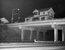 Goleta Depot crosses Fairview Ave freeway overpass.