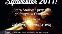 """31. grudnia zapraszamy na zabawę sylwestrową, która zacznie się o godzinie 20:00. Cena to 110 złotych od osoby. <a href=""""http://imprezy.golf-olszewka.pl/2011/11/21/zapraszamy-na-sylwestra/""""></a>"""