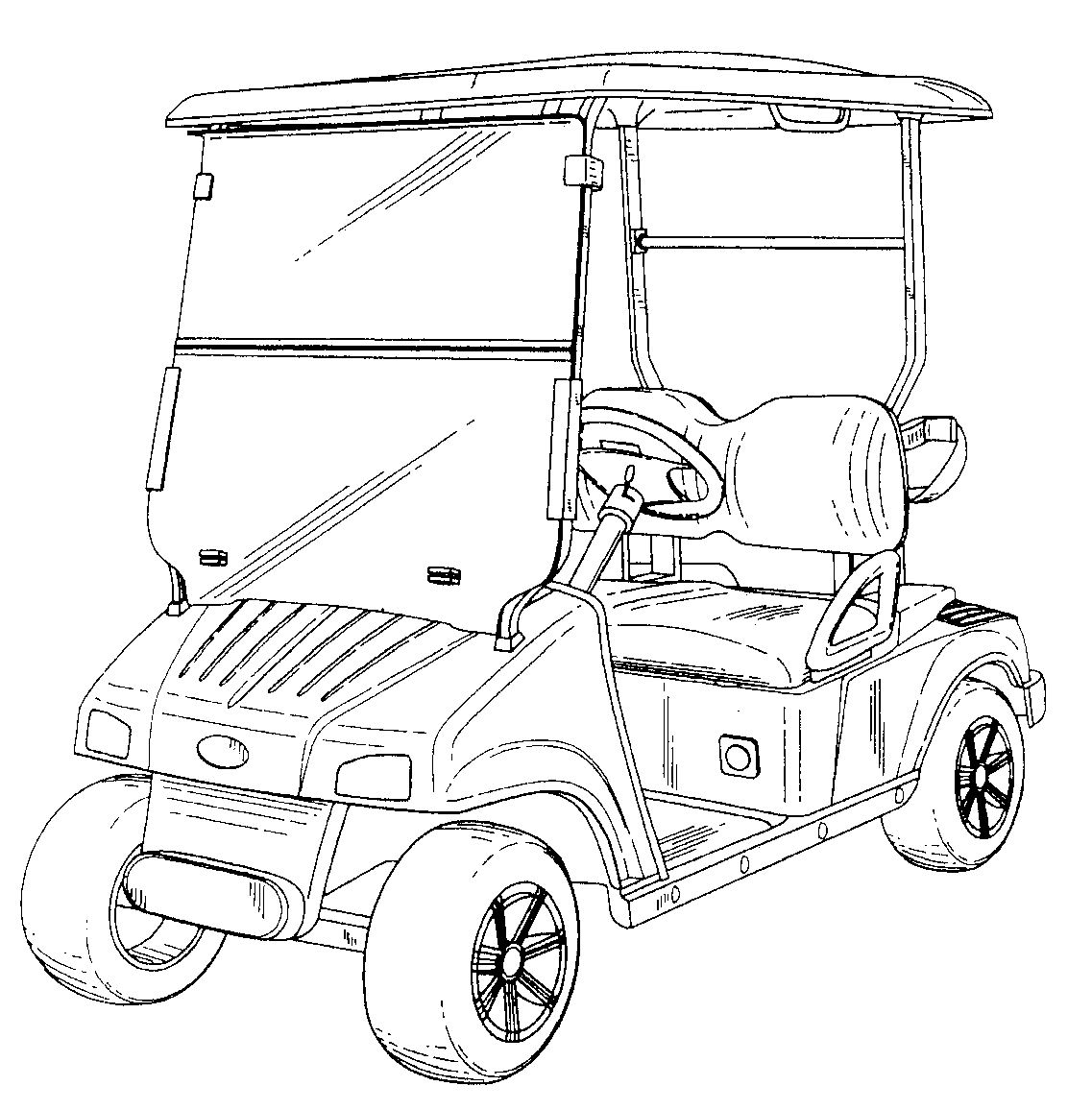 Design Patent Of The Week Golf Cart Design