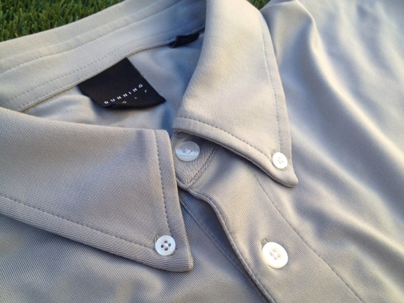 Stretch Jersey Button Down Polo