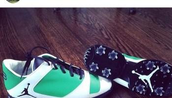 c9d521c619f8 Keegan Bradley s Jordan Golf Shoes for the Masters