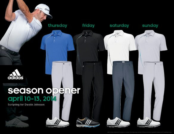 Dustin Johnson Masters Apparel Script
