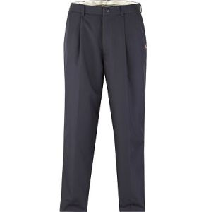Pants blue one pleat
