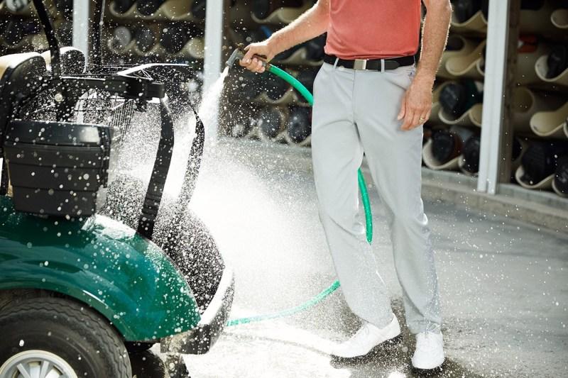 Lightweight Highland Golf Pant in grey.