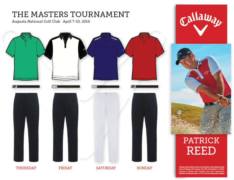 Patrick Reed's 2016 Masters Apparel Script