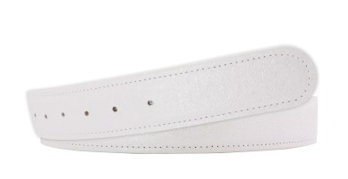 Druh Crystal Leather Strap in White