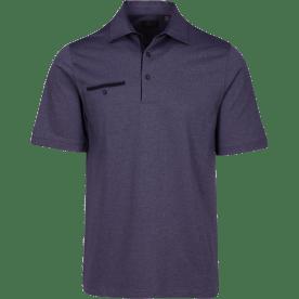 Greg Norman Modern Heritage Heathered Pocket Polo