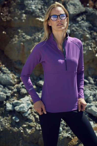 rheign technical pullover purple