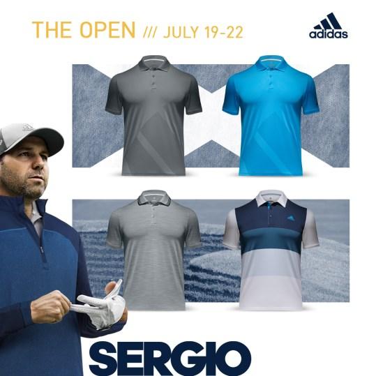 Sergio Garcia 2018 Open Championship Apparel Scripts