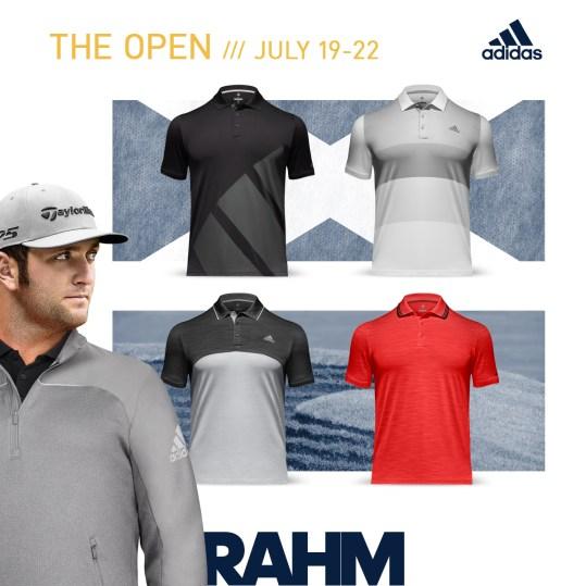 Jon Rahm 2018 Open Championship Apparel Scripts