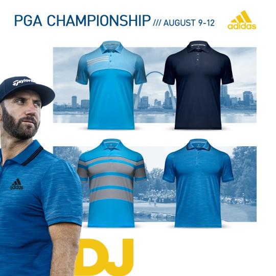 2018 PGA Championship Apparel Scripts Dustin Johnson