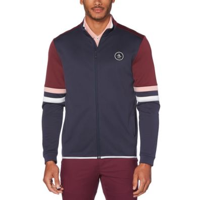 holiday gifts Color Block Full Zipped Golf Fleece front