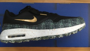 c9ee2ac30877 Rory McIlroy Debuts Nike Air Max 90 IT Golf Shoes   Joggers at The ...