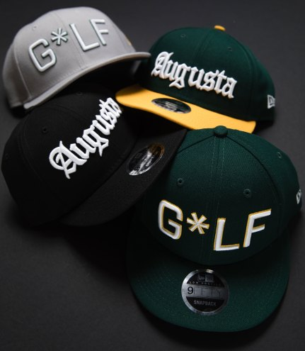 6022390e3f8 Devereux Augusta 9Fifty New Era Snapback hat in green and yellow is  designed with a low profile crown for a better fit. We like the edgy  Augusta font.