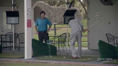 The Borat golf scene that was left on the editing-room floor