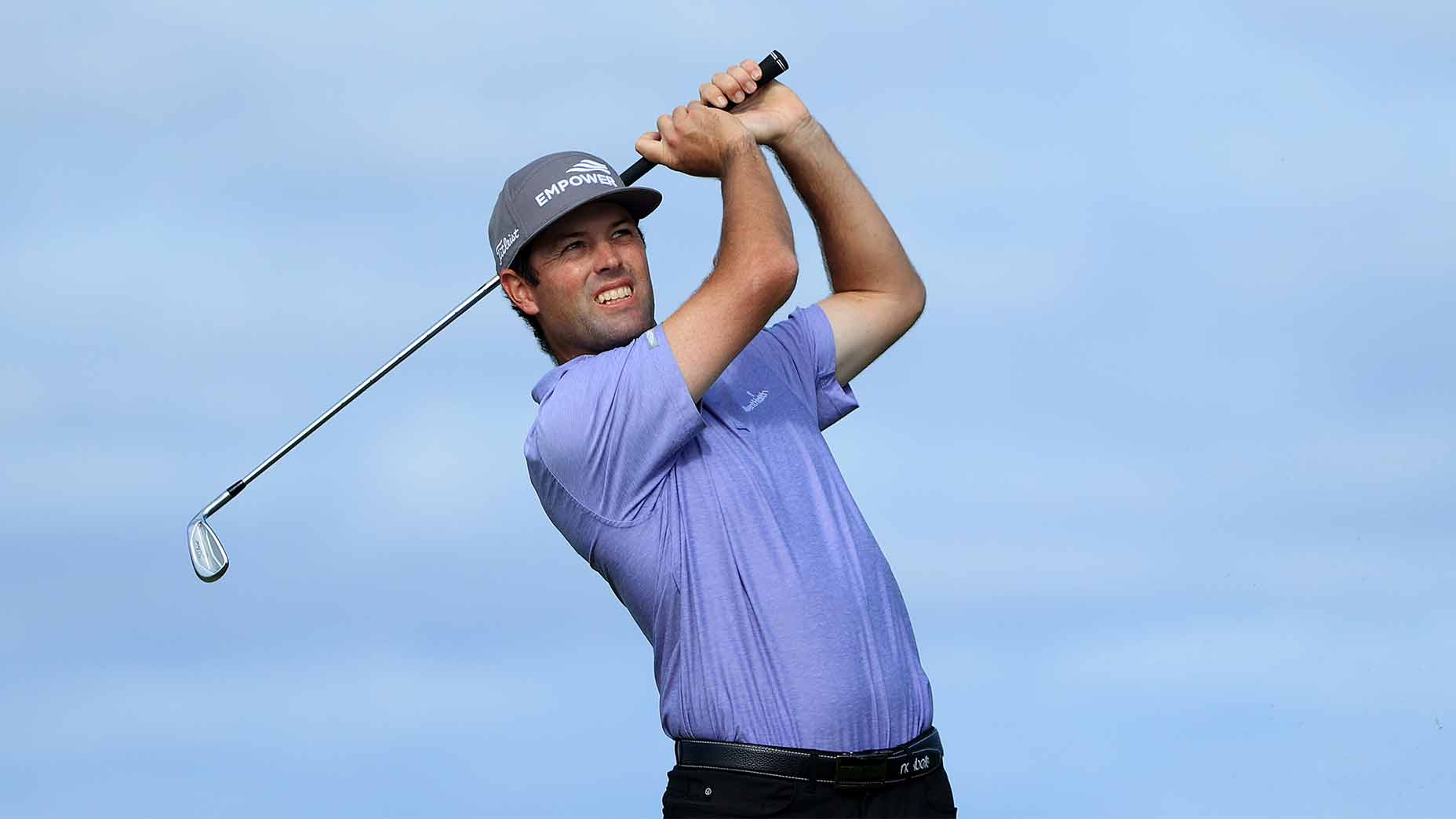 Robert Streb hits a shot in the final round.