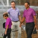 Charlie and Tiger Woods and Justin Thomas.