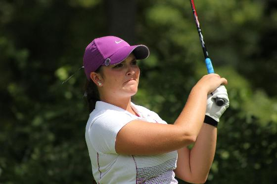 Julie Guckian in action Wednesday during the final round of the GAM Women's Championship at Owosso Country Club.