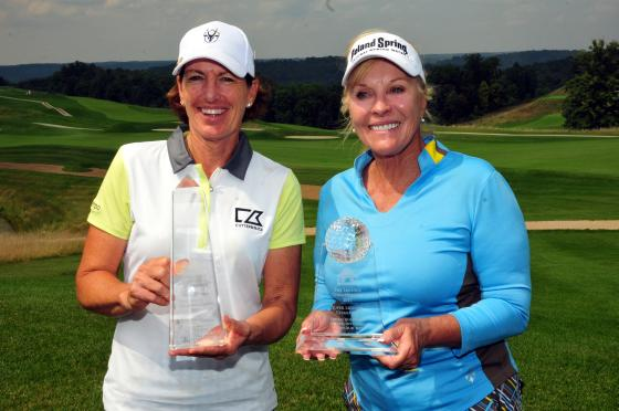 Julie Inkster and Jan Stephenson, winners at the The Legends Championship in French Lick, Indiana