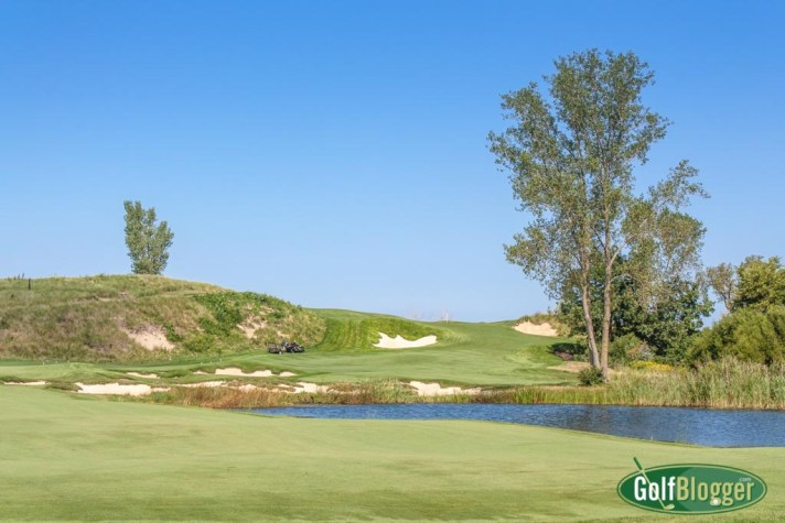 Harbor Shores' seventh hole is a 436 yard par 4