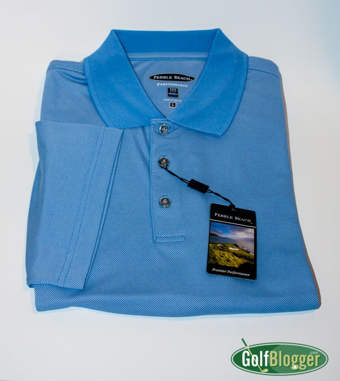 Pebble Beach Brand Performance Polo - Tonal Check