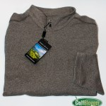 Pebble Beach Brand Heathered 1/4 Zip Pullover