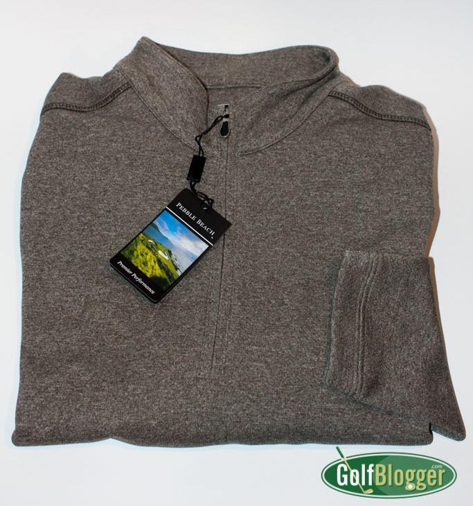Pebble Beach Brand Heathered 1/4 Zip Pullover