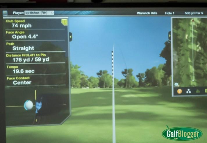 Optishot 2 Golf Simulator Screen Shot