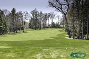 The eighteenth at Black Lake is a 590 yard par 5.