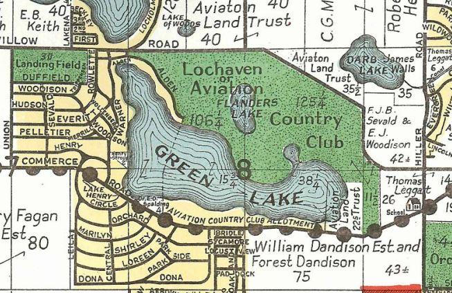 Aviation Country Club Map segment
