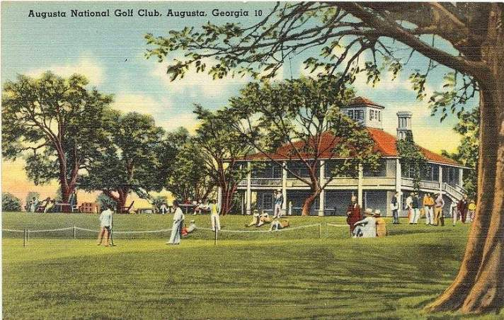 Augusta national clubhouse and grounds