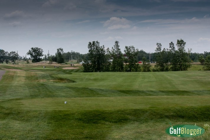 The first at Boulder Pointe's Bluffs is a 391 yard par 4.