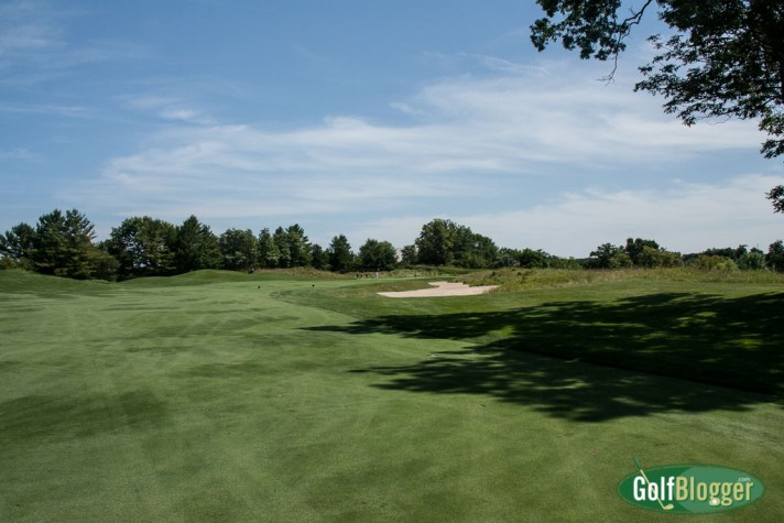 A view from the fairway at the Blackwolf Run River Course's third hole.