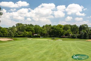 A view of the green on Oakland HIlls' South's fourth hole.