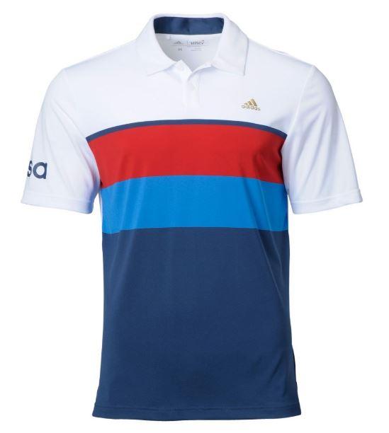 Olympic Golf Team USA Stripe Polo